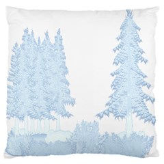 Winter Snow Trees Forest Large Cushion Case (one Side)