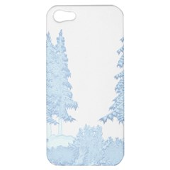Winter Snow Trees Forest Apple Iphone 5 Hardshell Case by Nexatart