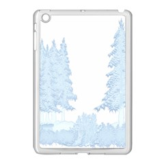 Winter Snow Trees Forest Apple Ipad Mini Case (white)