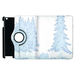 Winter Snow Trees Forest Apple Ipad 3/4 Flip 360 Case by Nexatart