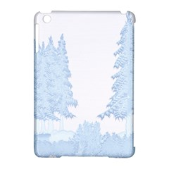 Winter Snow Trees Forest Apple Ipad Mini Hardshell Case (compatible With Smart Cover) by Nexatart