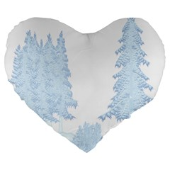 Winter Snow Trees Forest Large 19  Premium Heart Shape Cushions by Nexatart
