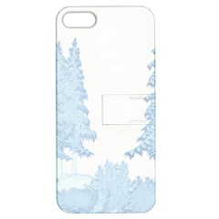 Winter Snow Trees Forest Apple Iphone 5 Hardshell Case With Stand by Nexatart