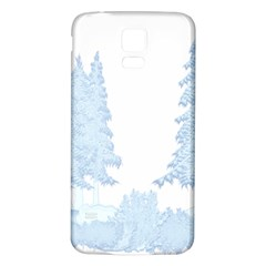 Winter Snow Trees Forest Samsung Galaxy S5 Back Case (white) by Nexatart