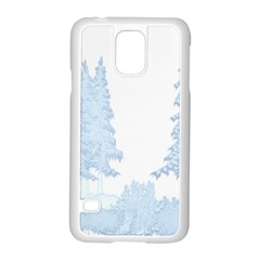Winter Snow Trees Forest Samsung Galaxy S5 Case (white) by Nexatart
