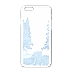 Winter Snow Trees Forest Apple Iphone 6/6s White Enamel Case