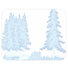 Winter Snow Trees Forest Double Sided Flano Blanket (medium)  by Nexatart