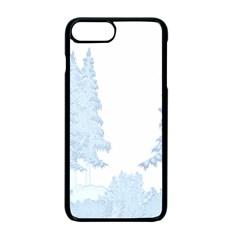 Winter Snow Trees Forest Apple Iphone 7 Plus Seamless Case (black)