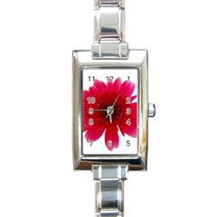 Flower Isolated Transparent Blossom Rectangle Italian Charm Watch by Nexatart
