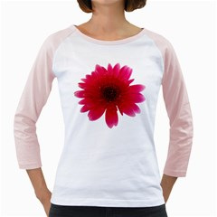 Flower Isolated Transparent Blossom Girly Raglans