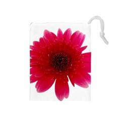 Flower Isolated Transparent Blossom Drawstring Pouches (medium)  by Nexatart