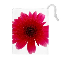 Flower Isolated Transparent Blossom Drawstring Pouches (extra Large)