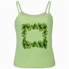Birthday Card Flowers Daisies Ivy Green Spaghetti Tank by Nexatart