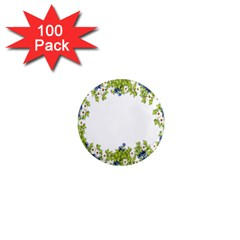 Birthday Card Flowers Daisies Ivy 1  Mini Magnets (100 Pack)  by Nexatart