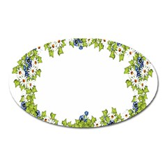 Birthday Card Flowers Daisies Ivy Oval Magnet