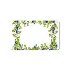 Birthday Card Flowers Daisies Ivy Magnet (name Card)
