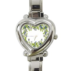 Birthday Card Flowers Daisies Ivy Heart Italian Charm Watch by Nexatart