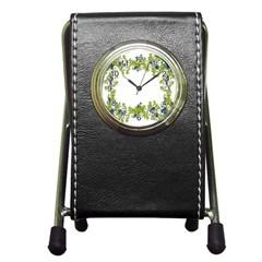 Birthday Card Flowers Daisies Ivy Pen Holder Desk Clocks by Nexatart