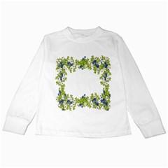 Birthday Card Flowers Daisies Ivy Kids Long Sleeve T Shirts