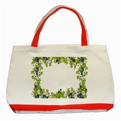 Birthday Card Flowers Daisies Ivy Classic Tote Bag (red) by Nexatart