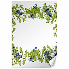 Birthday Card Flowers Daisies Ivy Canvas 24  X 36  by Nexatart