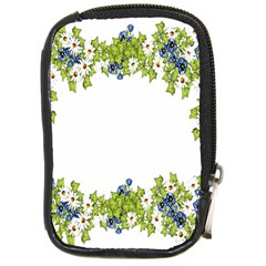 Birthday Card Flowers Daisies Ivy Compact Camera Cases by Nexatart