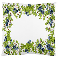Birthday Card Flowers Daisies Ivy Large Cushion Case (two Sides) by Nexatart