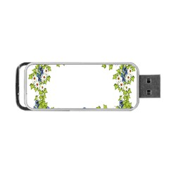 Birthday Card Flowers Daisies Ivy Portable Usb Flash (two Sides)