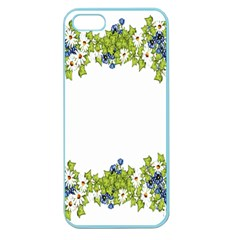 Birthday Card Flowers Daisies Ivy Apple Seamless Iphone 5 Case (color)