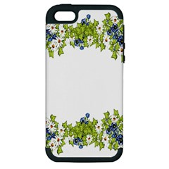 Birthday Card Flowers Daisies Ivy Apple Iphone 5 Hardshell Case (pc+silicone) by Nexatart