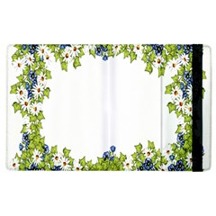 Birthday Card Flowers Daisies Ivy Apple Ipad 2 Flip Case by Nexatart