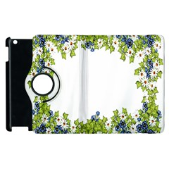 Birthday Card Flowers Daisies Ivy Apple Ipad 3/4 Flip 360 Case by Nexatart