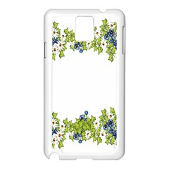 Birthday Card Flowers Daisies Ivy Samsung Galaxy Note 3 N9005 Case (white)