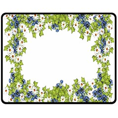 Birthday Card Flowers Daisies Ivy Double Sided Fleece Blanket (medium)