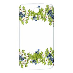 Birthday Card Flowers Daisies Ivy Samsung Galaxy Mega I9200 Hardshell Back Case by Nexatart