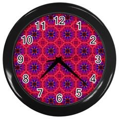 Retro Abstract Boho Unique Wall Clocks (black) by Nexatart