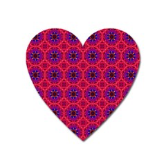 Retro Abstract Boho Unique Heart Magnet by Nexatart