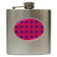 Retro Abstract Boho Unique Hip Flask (6 Oz) by Nexatart