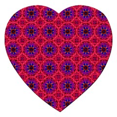 Retro Abstract Boho Unique Jigsaw Puzzle (heart) by Nexatart