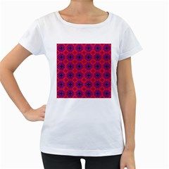 Retro Abstract Boho Unique Women s Loose Fit T Shirt (white)