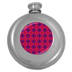 Retro Abstract Boho Unique Round Hip Flask (5 Oz) by Nexatart