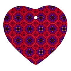 Retro Abstract Boho Unique Heart Ornament (two Sides) by Nexatart