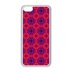 Retro Abstract Boho Unique Apple Iphone 5c Seamless Case (white)