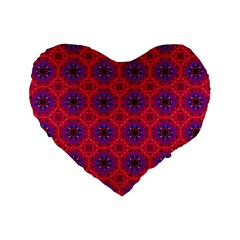 Retro Abstract Boho Unique Standard 16  Premium Flano Heart Shape Cushions