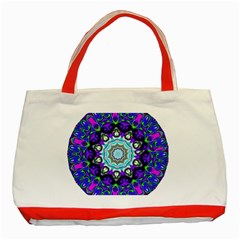 Graphic Isolated Mandela Colorful Classic Tote Bag (red)