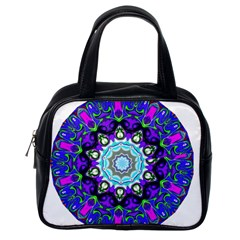 Graphic Isolated Mandela Colorful Classic Handbags (one Side) by Nexatart