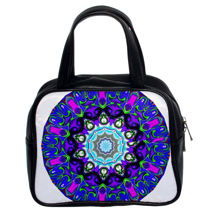 Graphic Isolated Mandela Colorful Classic Handbags (2 Sides)
