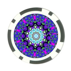 Graphic Isolated Mandela Colorful Poker Chip Card Guard (10 Pack)