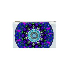 Graphic Isolated Mandela Colorful Cosmetic Bag (small)  by Nexatart