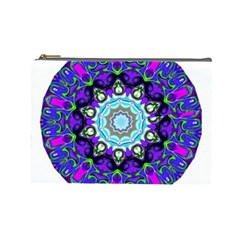 Graphic Isolated Mandela Colorful Cosmetic Bag (large)  by Nexatart